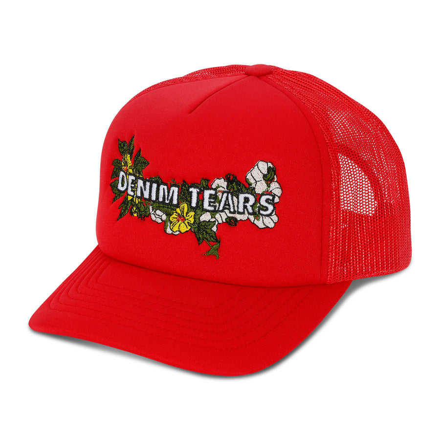Denim Tears Embroidered Floral Logo 'Southern Man' Trucker