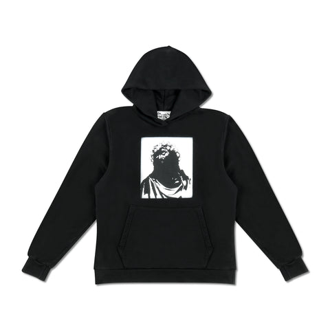 Crown Made of Cotton Monochromatic Hoodie