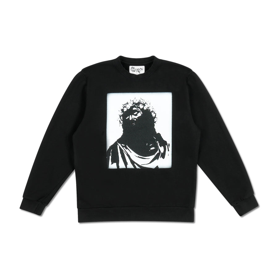 Crown Made of Cotton Monochromatic Crewneck