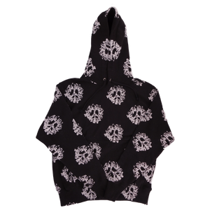 Cotton Wreath Peace All Over Print Hoodie