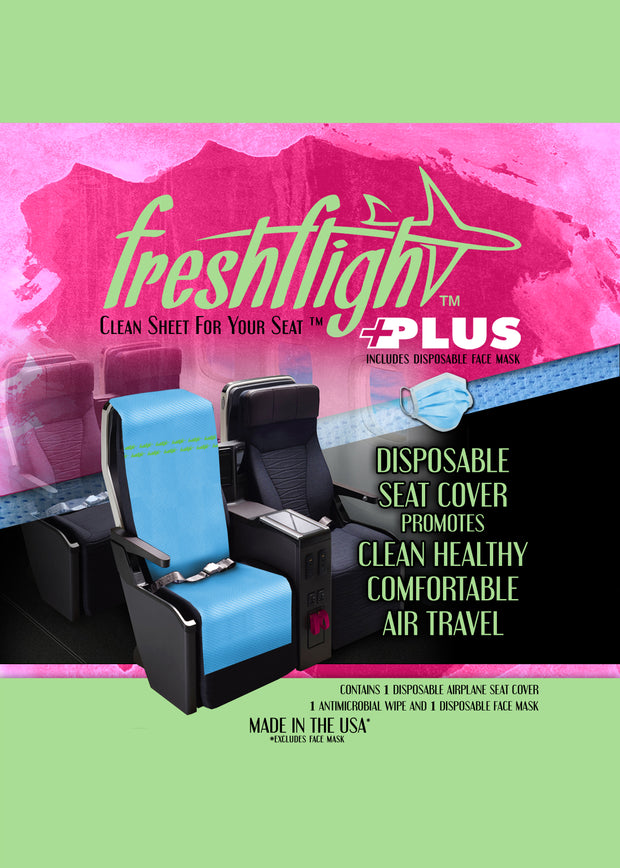 FreshFlight Plus - Disposable Airplane Seat Cover with Face Mask