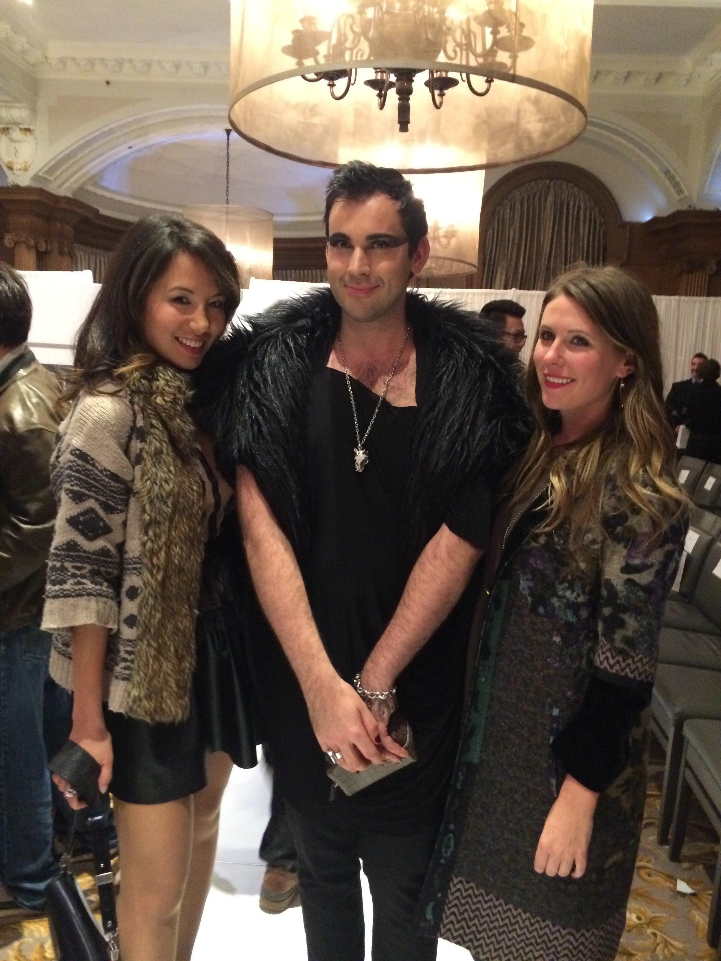 Jigme Nehring and Courtney Watkins of Mine & Yours with Justin Voltic from HUSH Magazine
