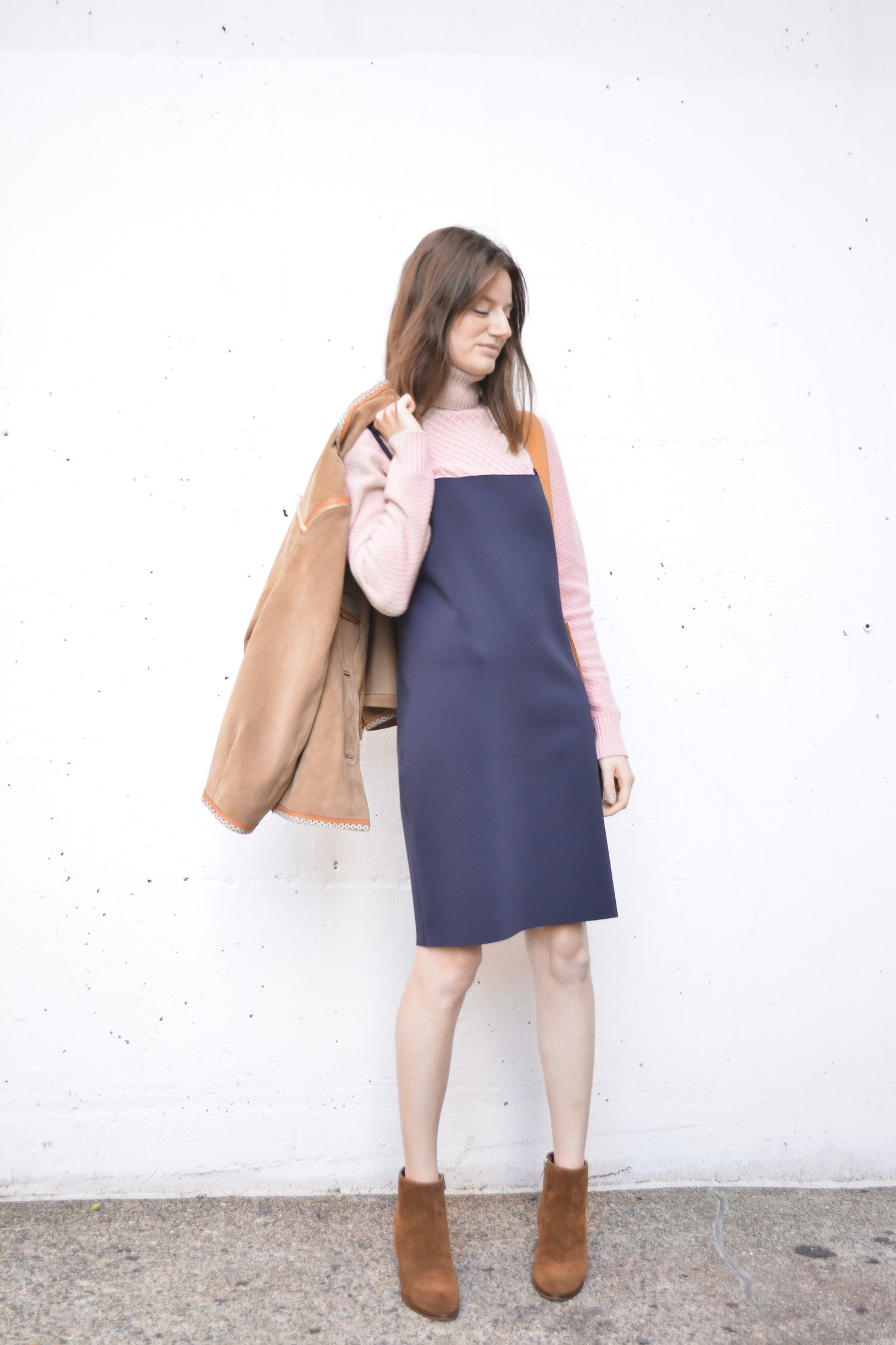 00223f8d04 Another big trend is the jumper (button up or shift dress) worn over a  turtleneck or sweater (add colorful tights on colder days) and is the best  way to get ...