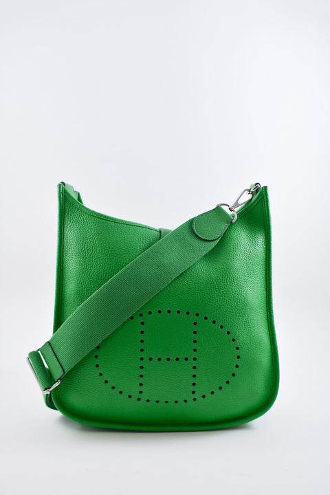 Hermès Green Evelyn PM Clemence