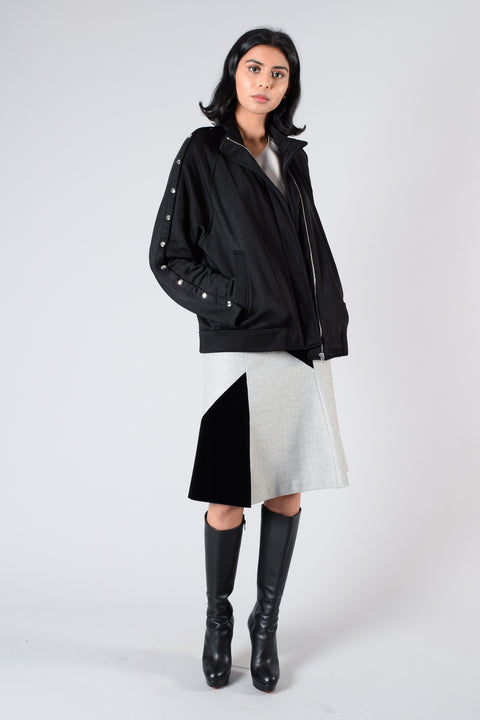 T by Alexander Wang Black Tearaway Jacket Size S