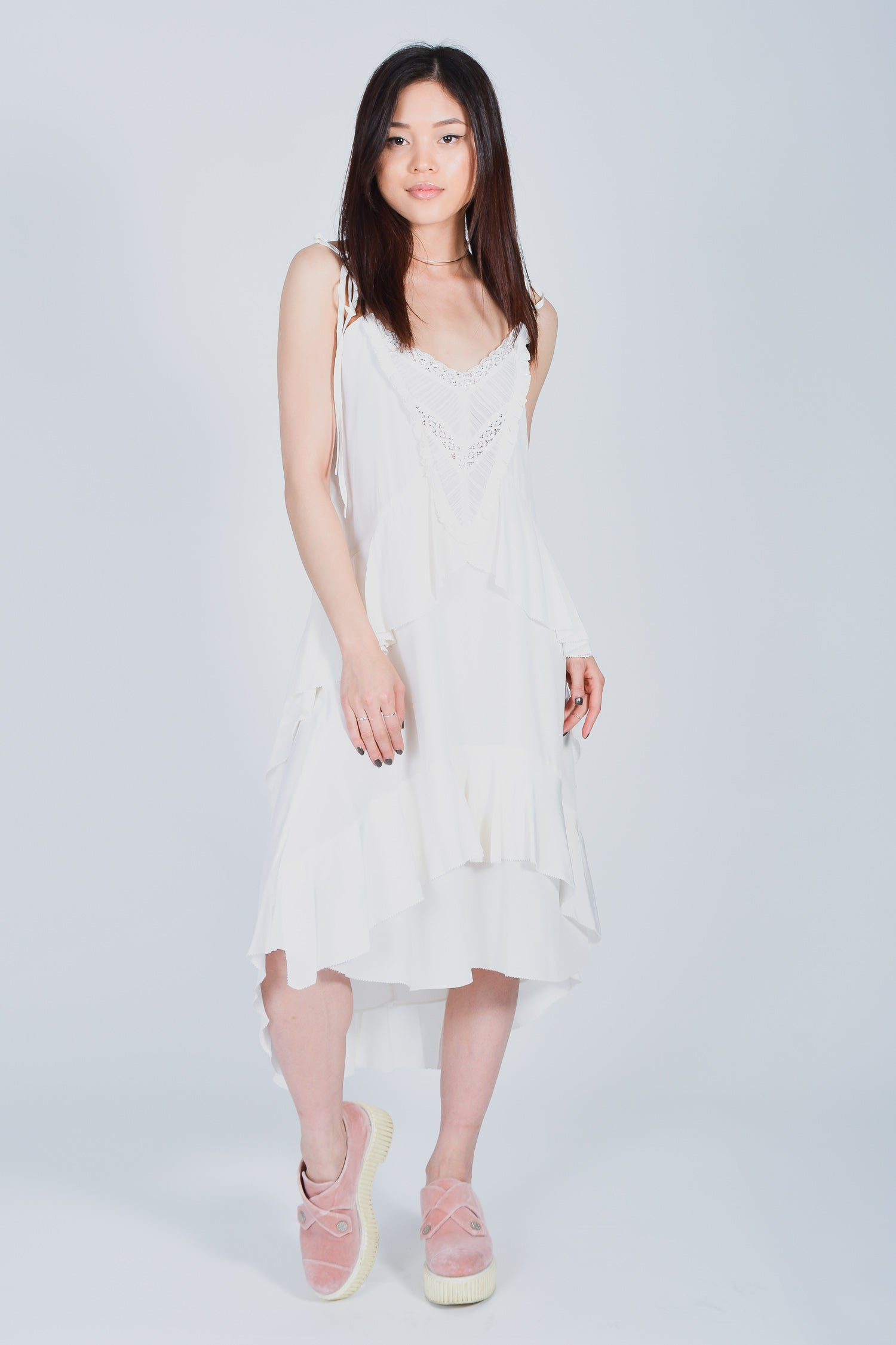 4efbee496e Ulla Johnson Off-White Babydoll Midi Dress Size 4 – Mine   Yours ...