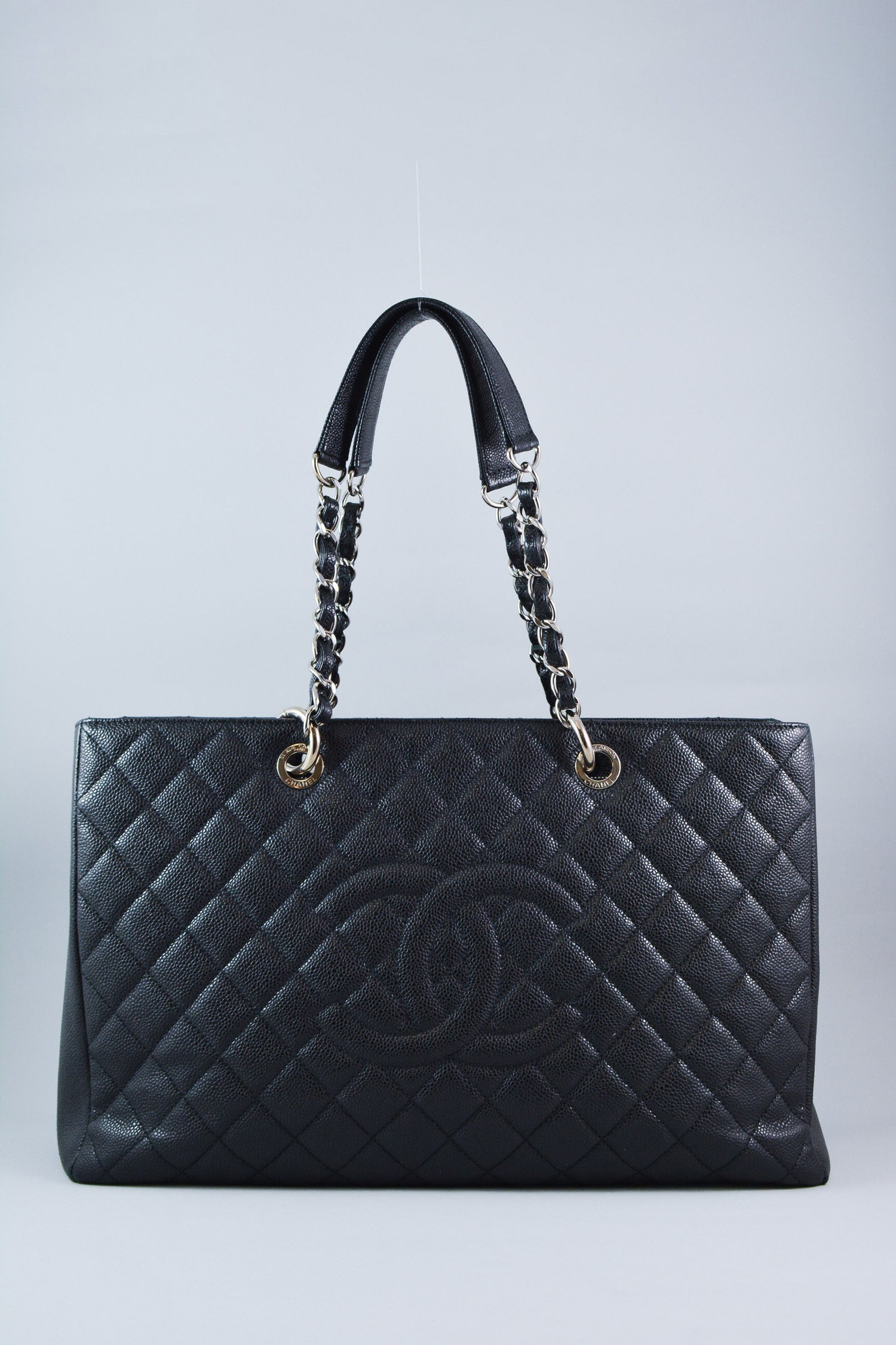 Chanel Black Caviar Grand Shopping XL Tote