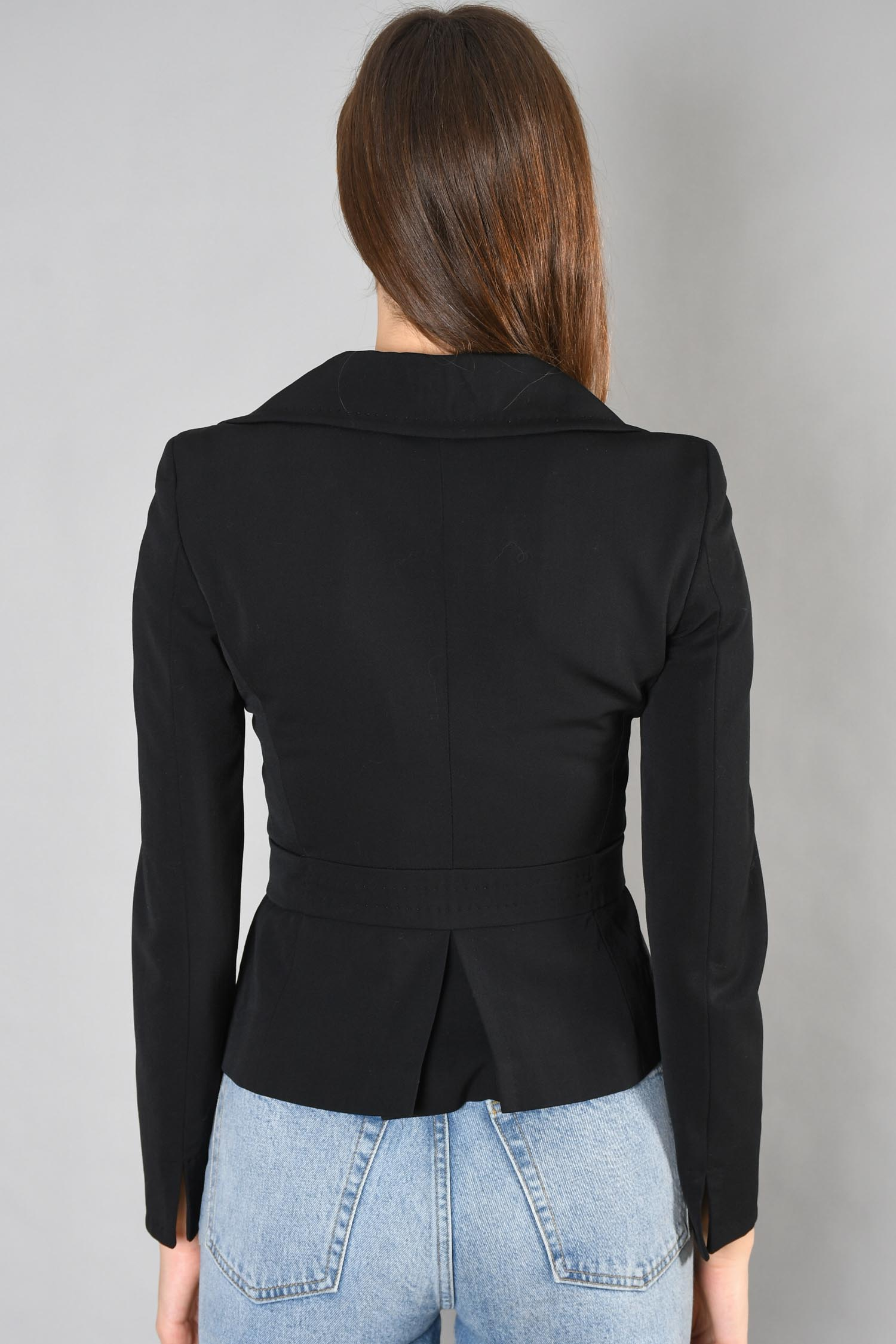 Max Mara x Holt Renfrew Black Blazer w/ Belt Size 8 US