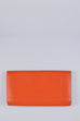 Longchamp Orange Leather Wallet