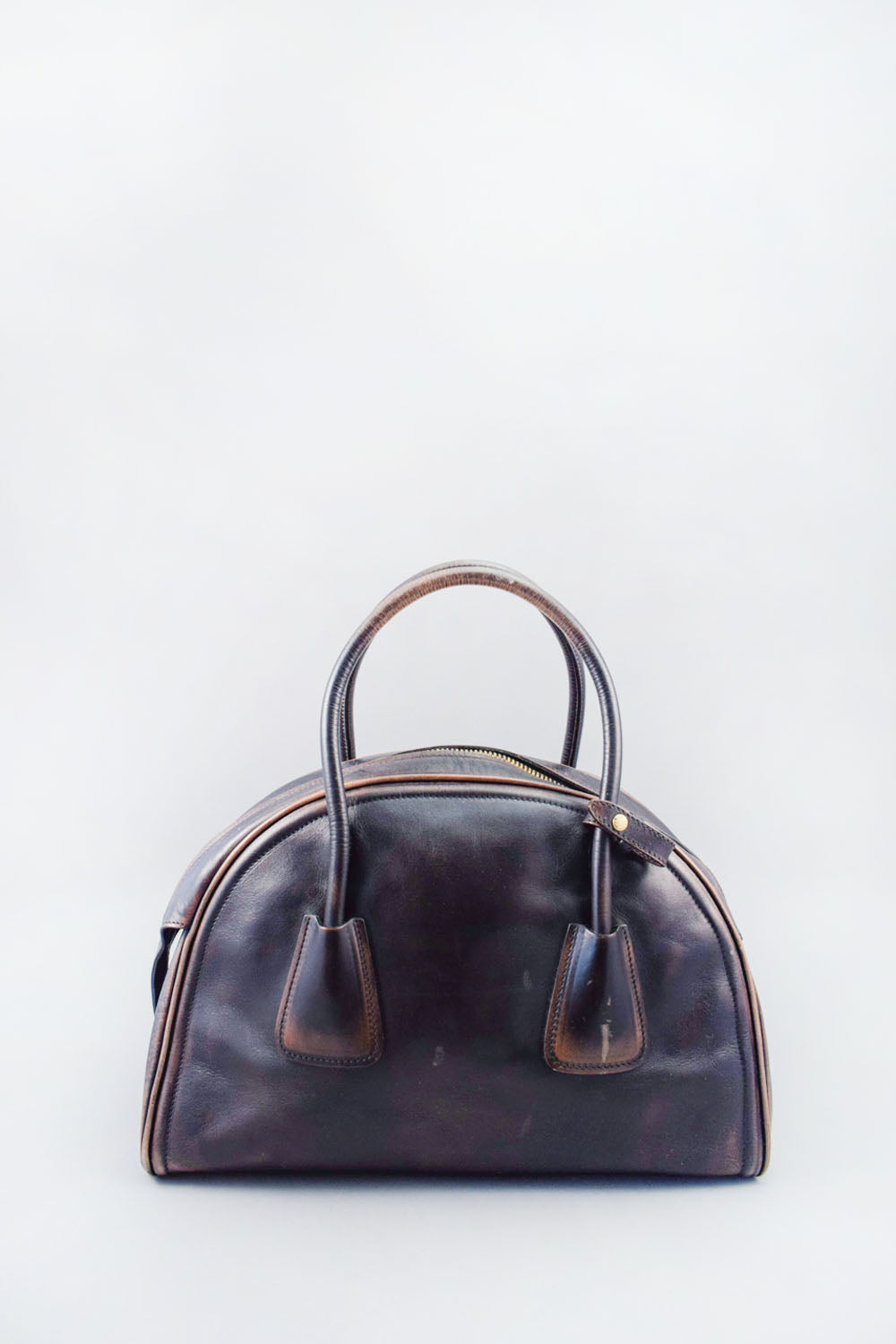 Prada Limited Edition Black/Brown Bowling Bag