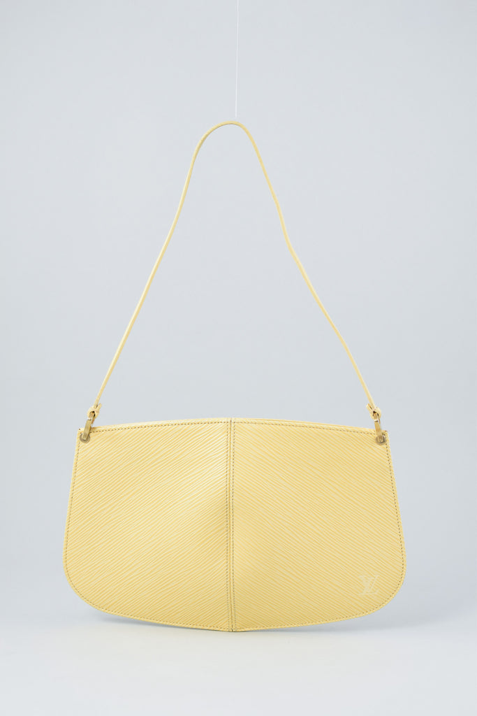 Louis Vuitton Yellow Epi Pochette Demi-Lune