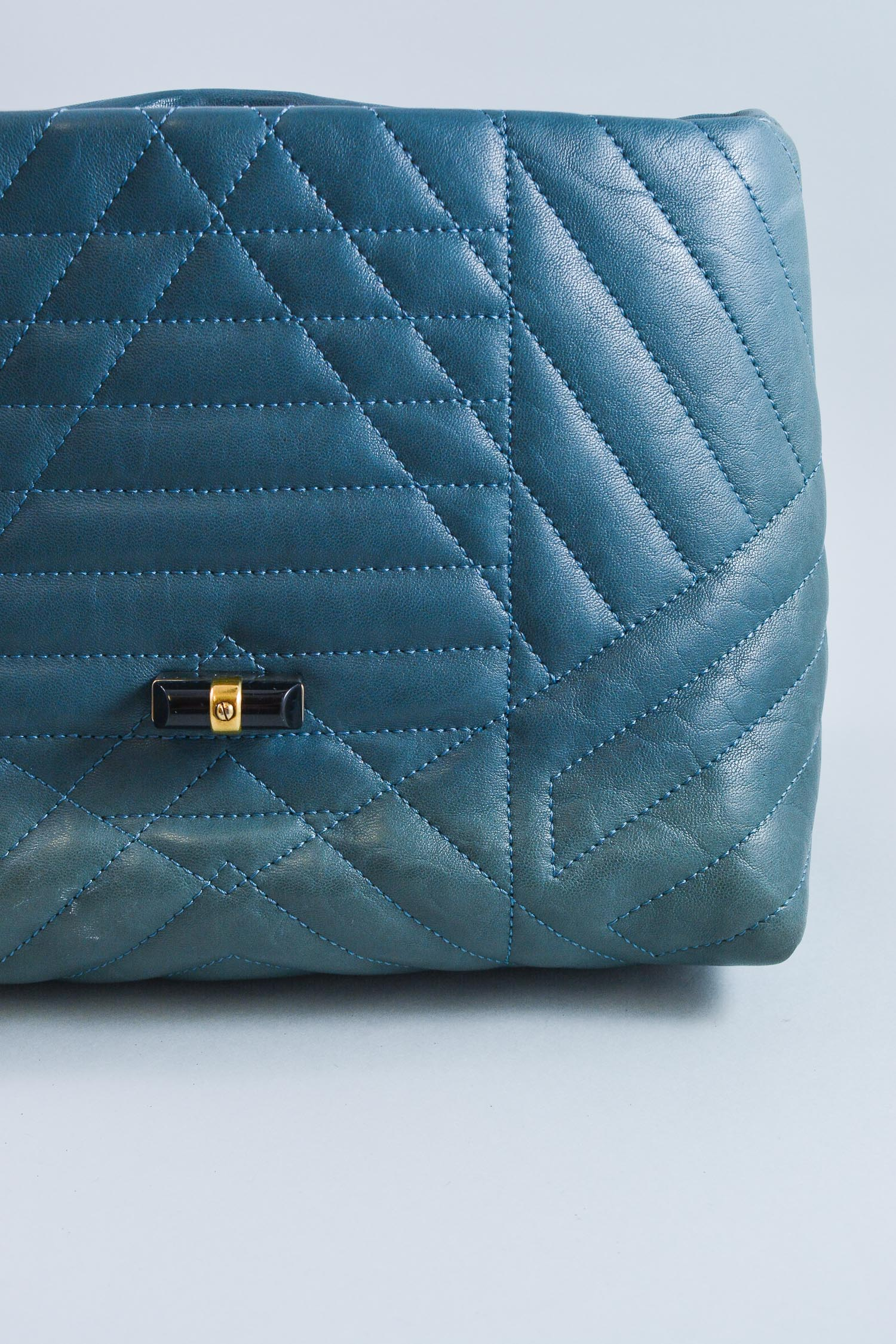 Lanvin Blue Quilted Pop Happy Leather Bag
