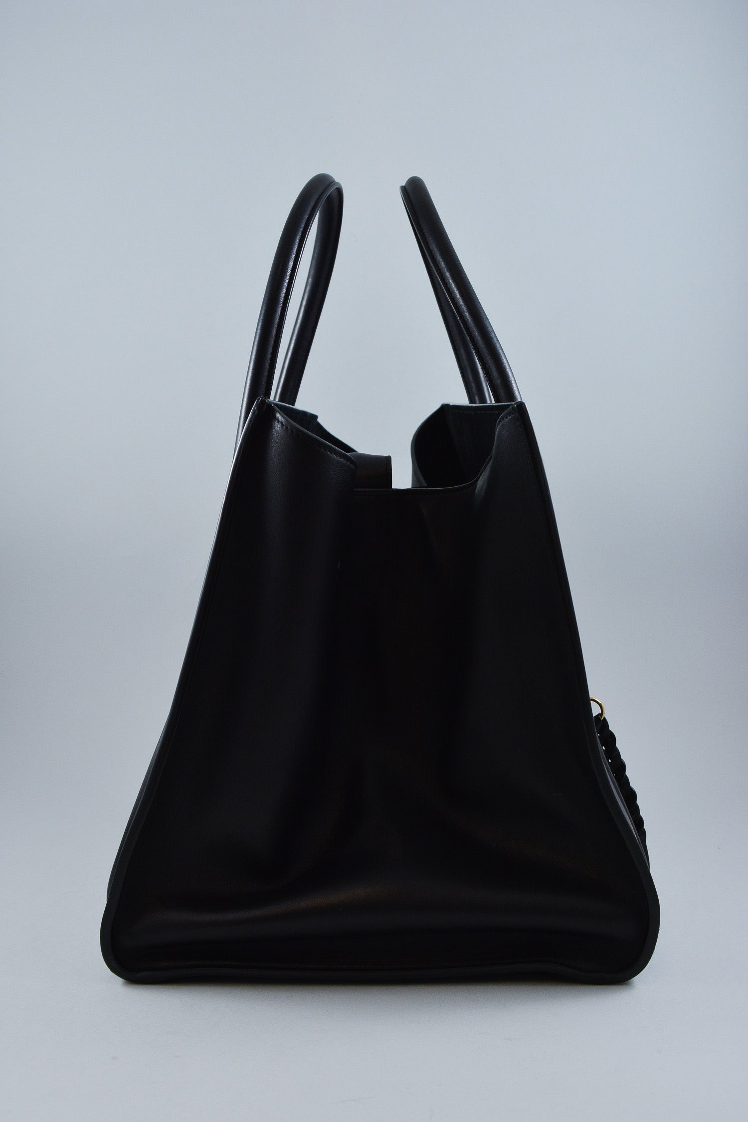 Celine Black Leather Phantom Luggage Bag