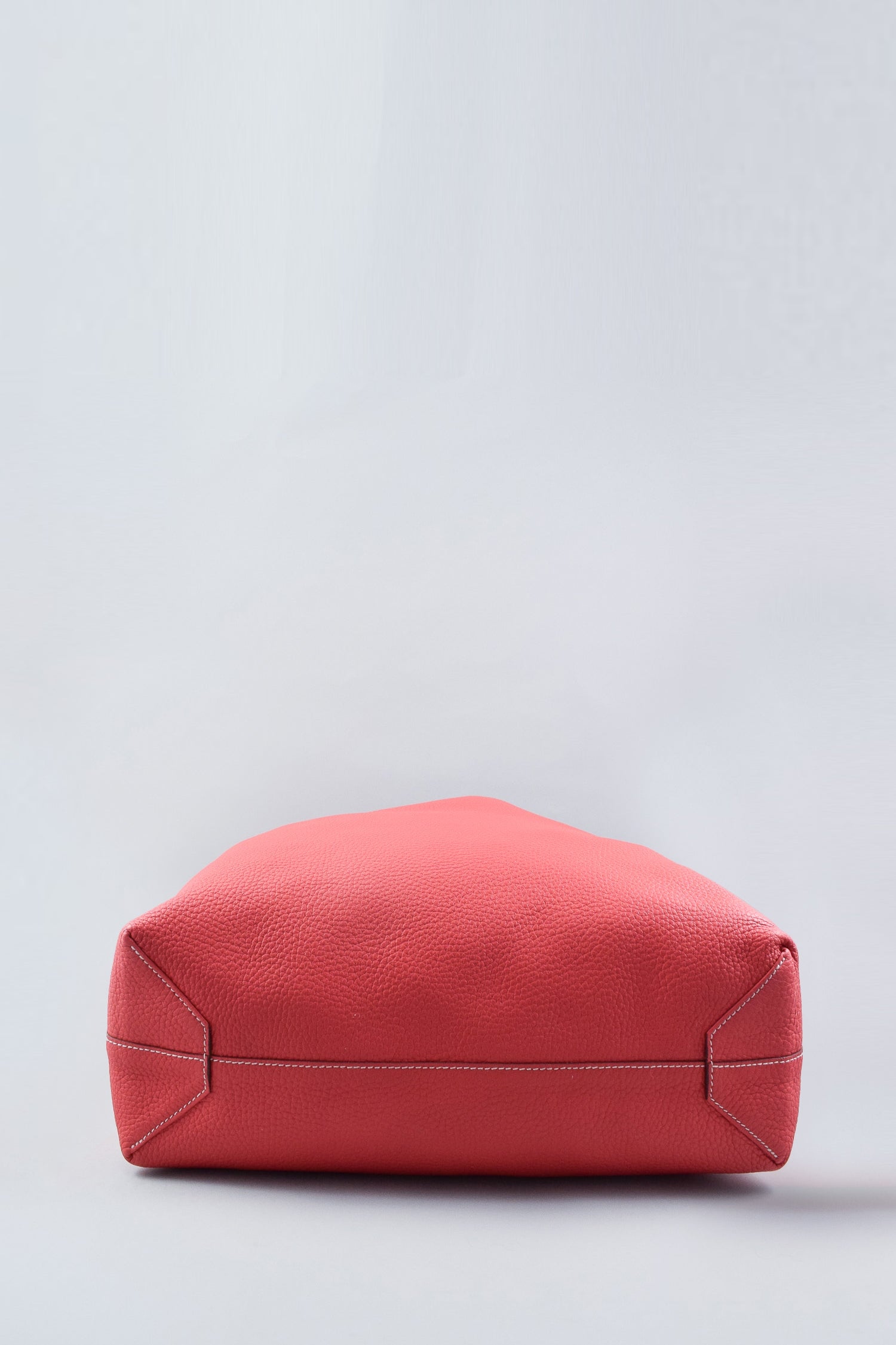 Hermes Red Clemence Double Sens 45 Tote
