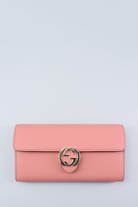 Gucci Pink Leather Icon Wallet