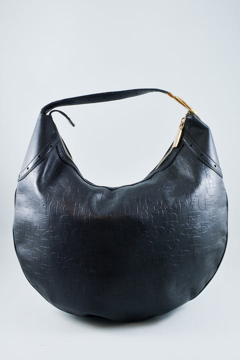 Gucci Black Leather Hobo w/ Gold Hardware