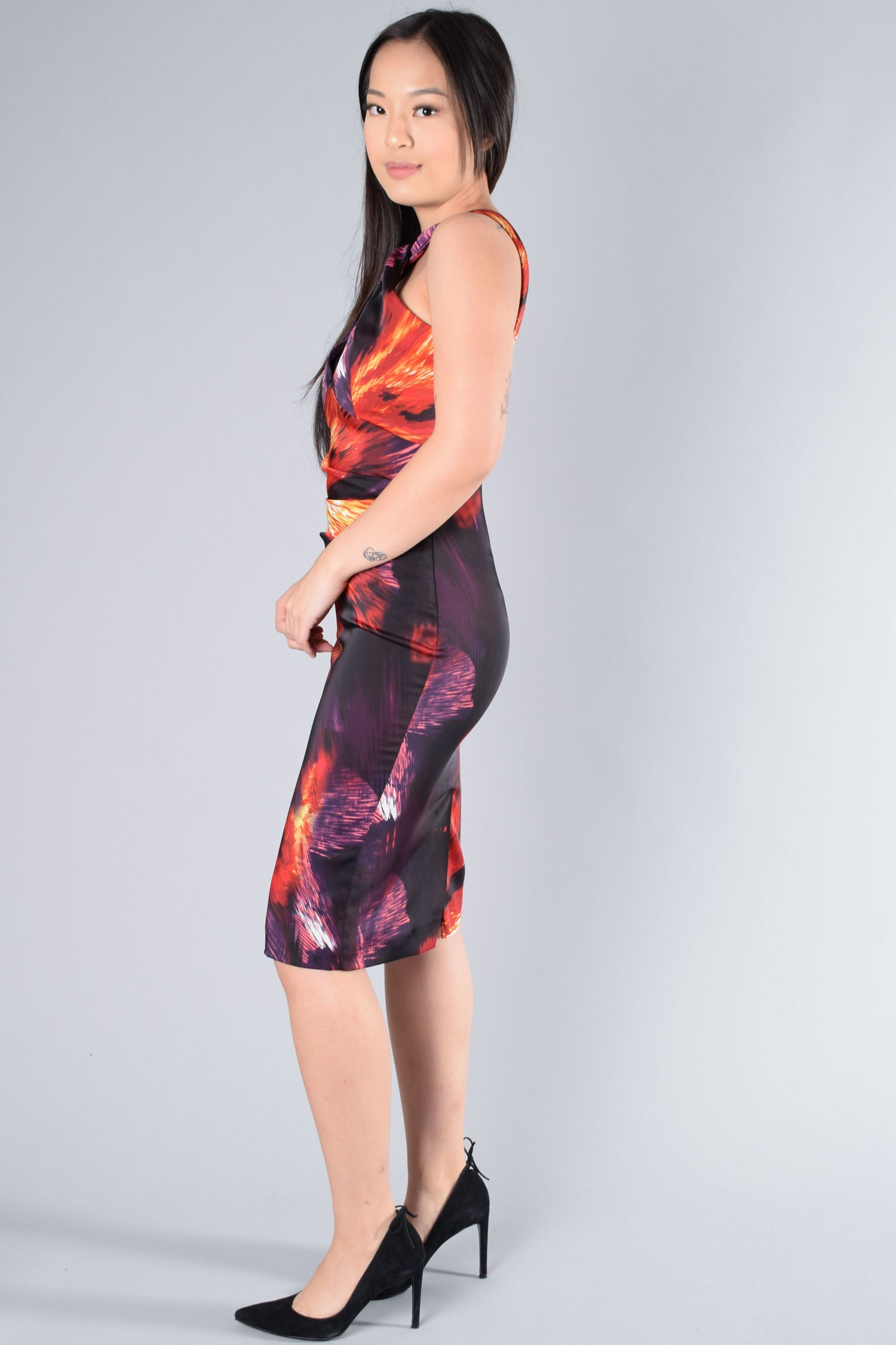 Karen Millen Sunset Colours Sleeveless Dress Size 4