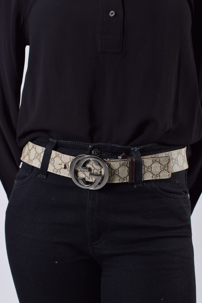 Gucci GG Supreme belt with GG Buckle