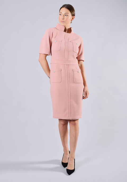 Chanel Pink Wool Sheath Dress Size 38 (Est. Retail $7600)