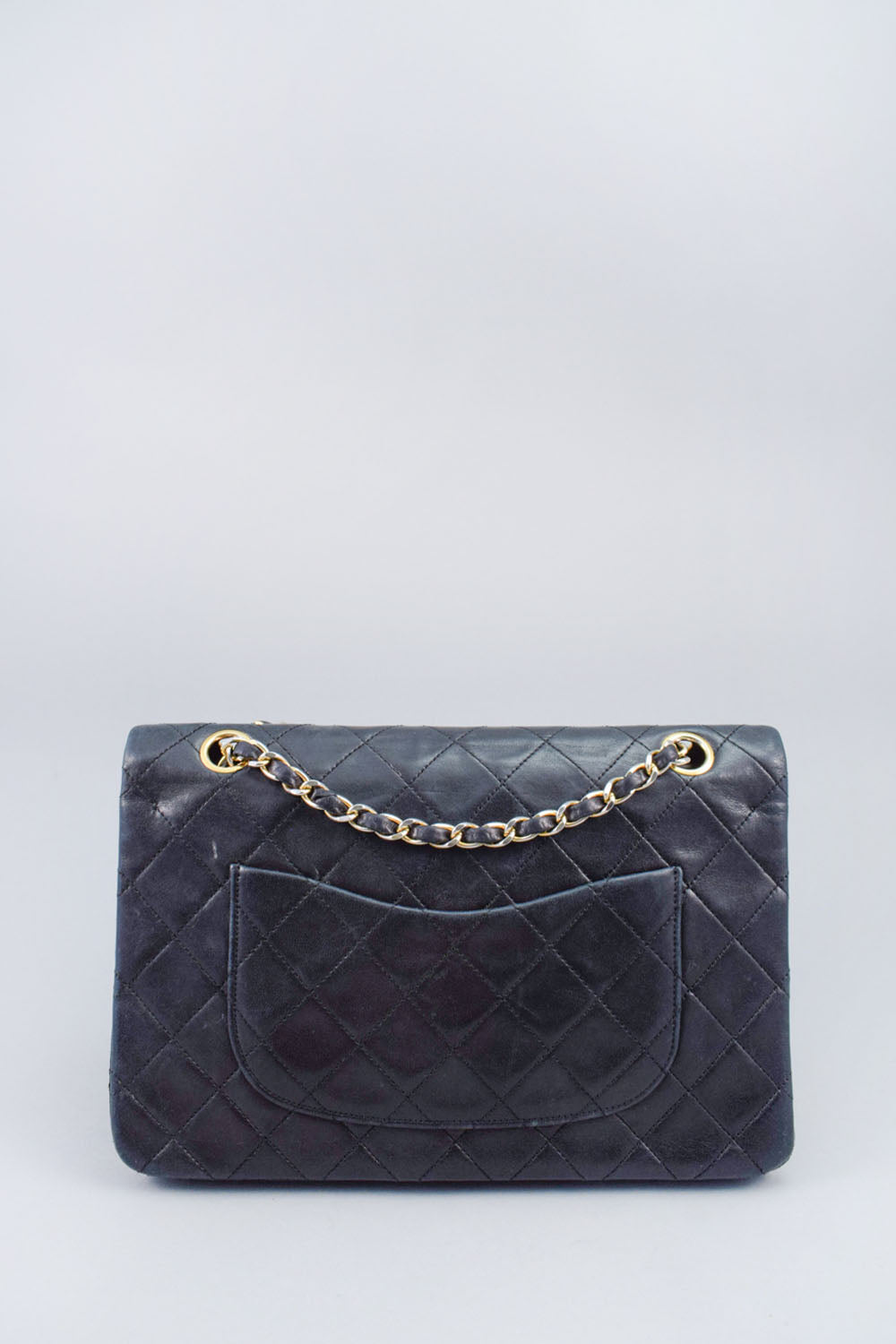 Chanel Black Vintage Classic Medium Lambskin Double Flap