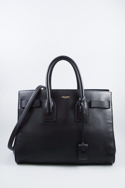 Saint Laurent Black Classic Sac de Jour Handbag