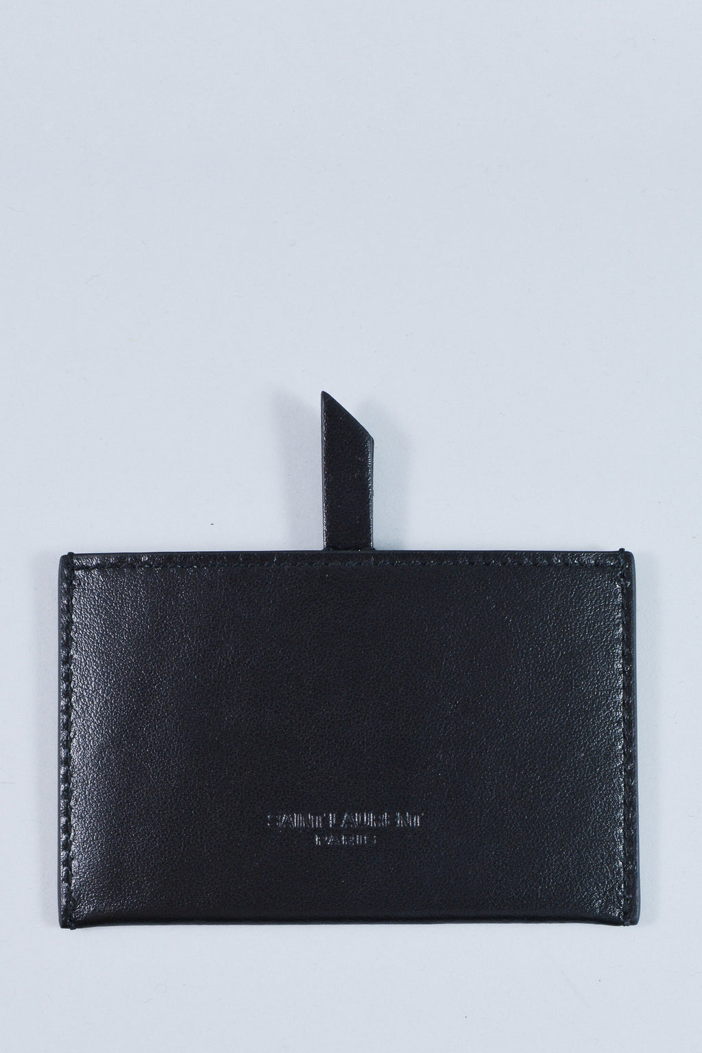 "Saint Laurent Black Leather ""For You"" Cardholder w/ Mirror"