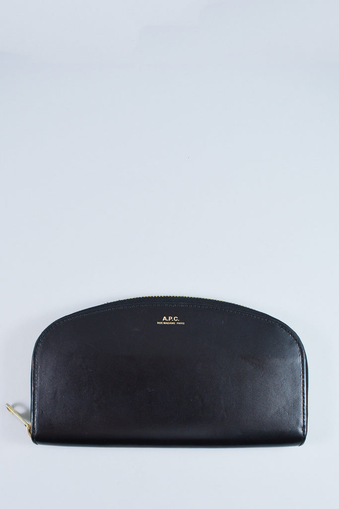 A.P.C. Black Half-moon Wallet