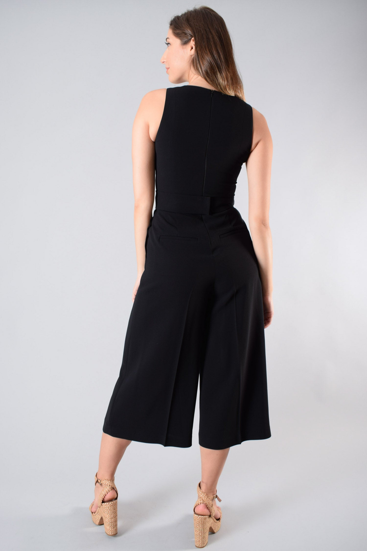 Judith & Charles Black Sleeveless Jumpsuit Size 2