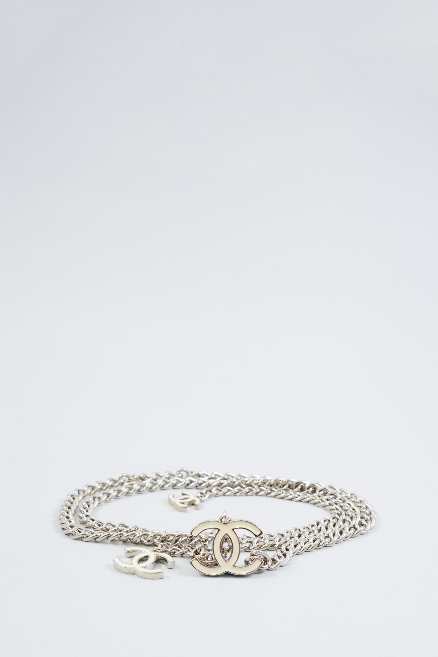 Chanel Silver Chain CC Belt
