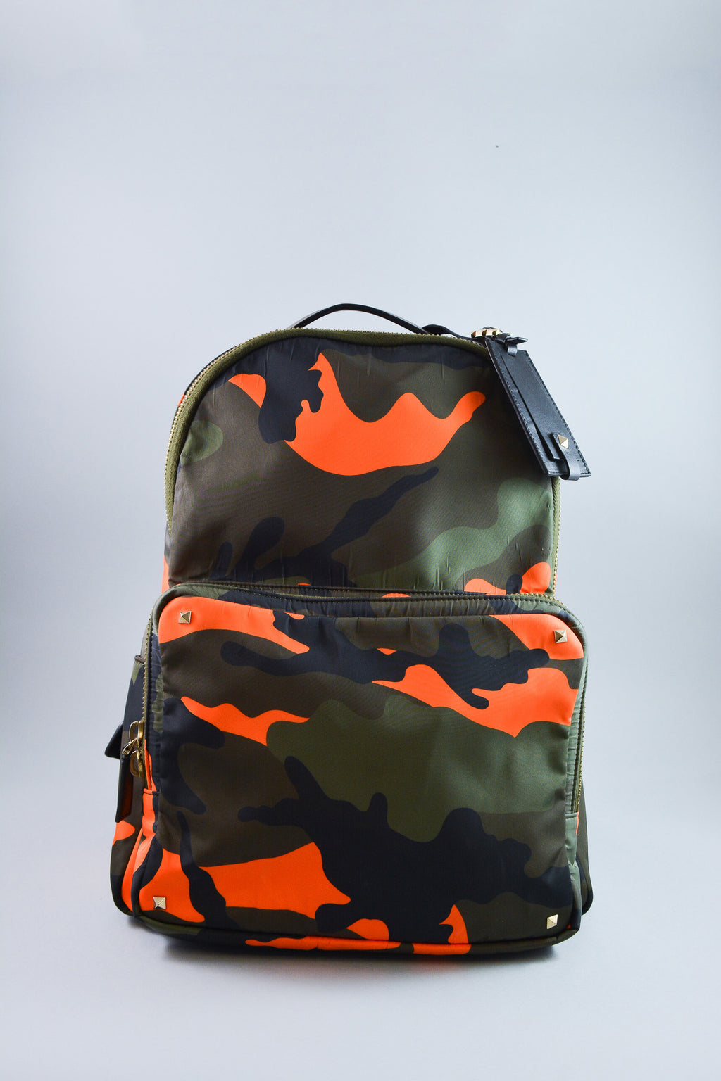 Valentino Green/Orange Camouflage Backpack