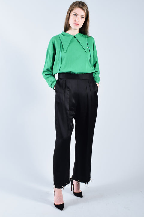 Christopher Kane Black Pants w/ Rings at Cuff Size 6