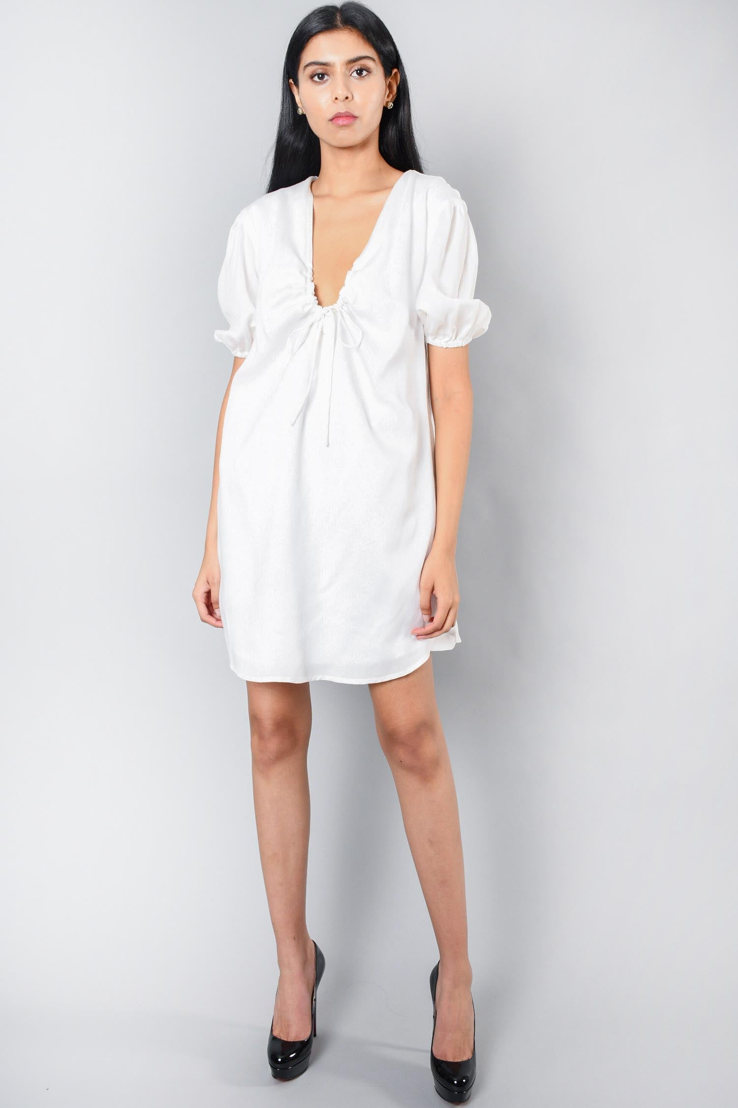 L'Academie White Amaya Dress Size S