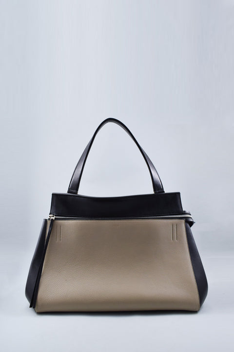 Celine Black/Beige Large Edge Bag