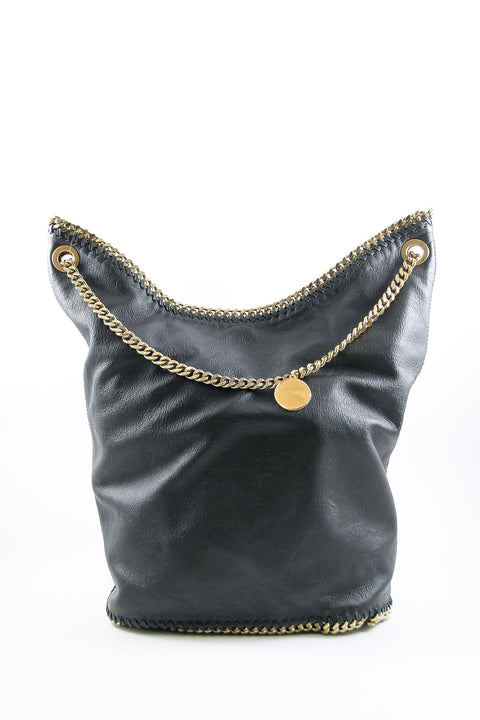 Stella McCartney Black Falabella Bucket Bag
