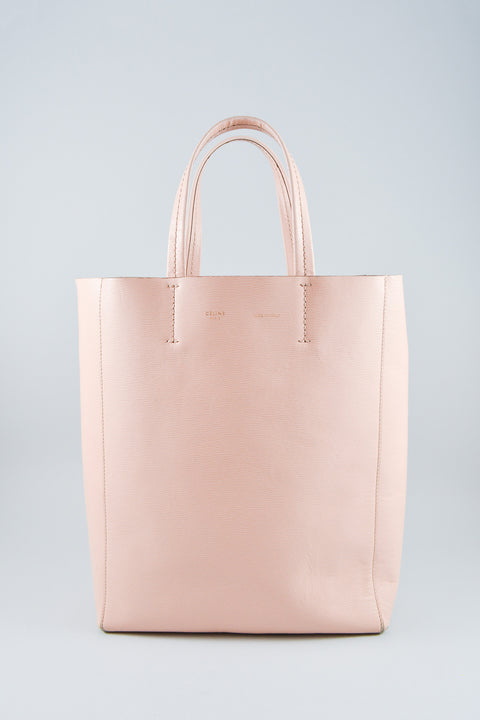 Celine Blush Leather Small Cabas Tote