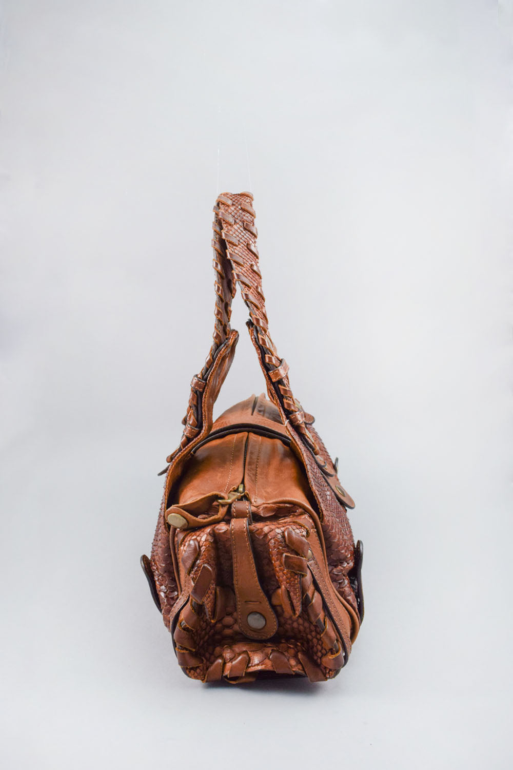 Chloe Brown Python Silverado Bag