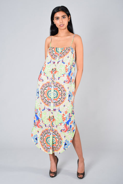 Mara Hoffman Printed Max Tank Dress Size M