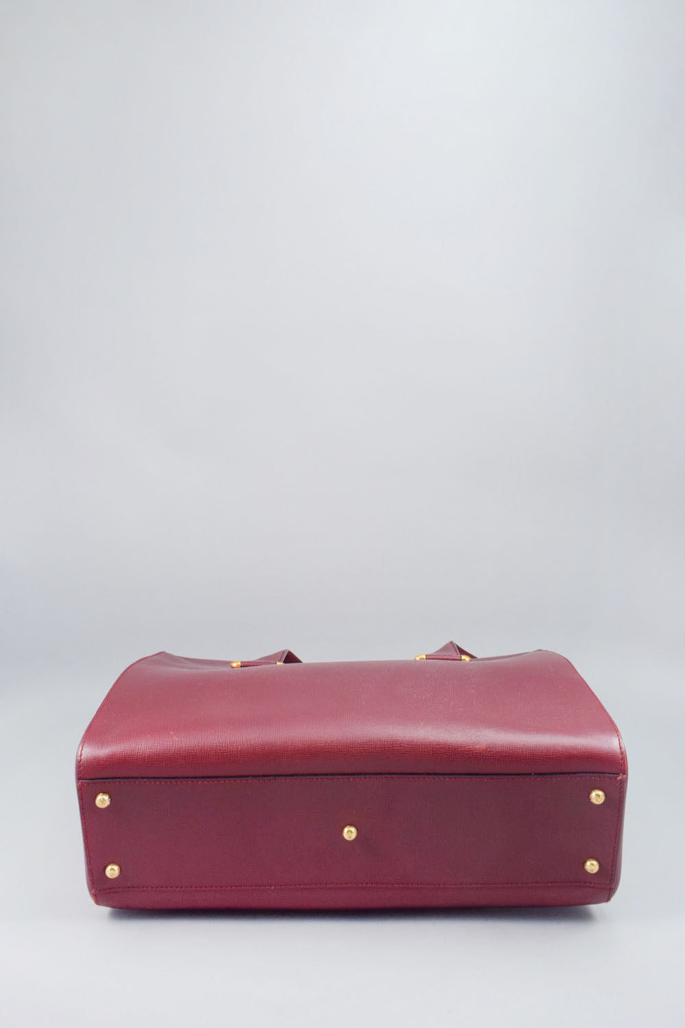 Cartier Burgundy Leather Shoulder Bag