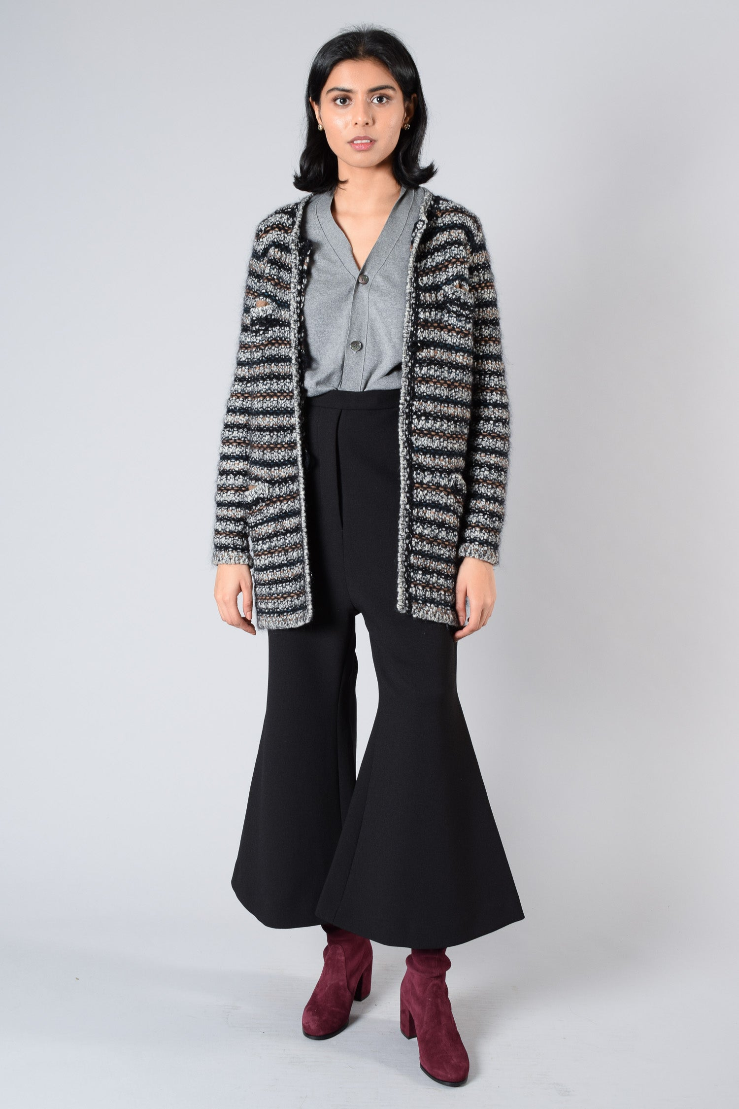 Isabel Marant Knit Striped Wool/Mohair Cardigan Size 36