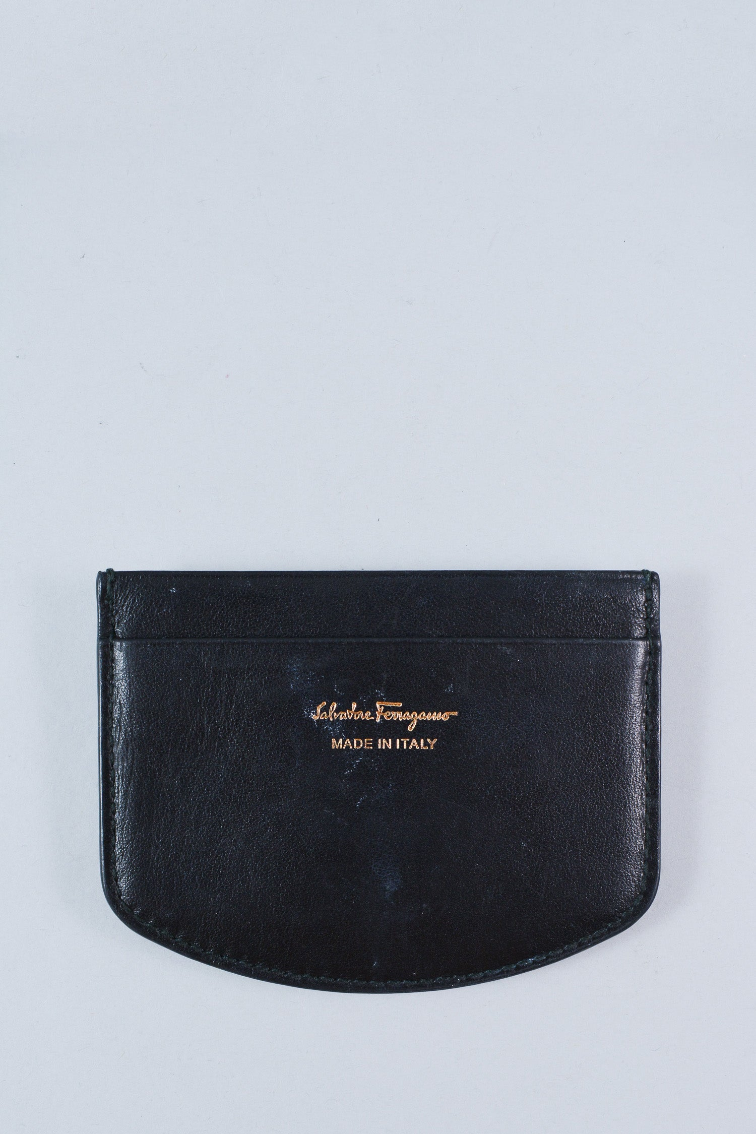 Salvatore Ferragamo Black and Horsebit Cardholder