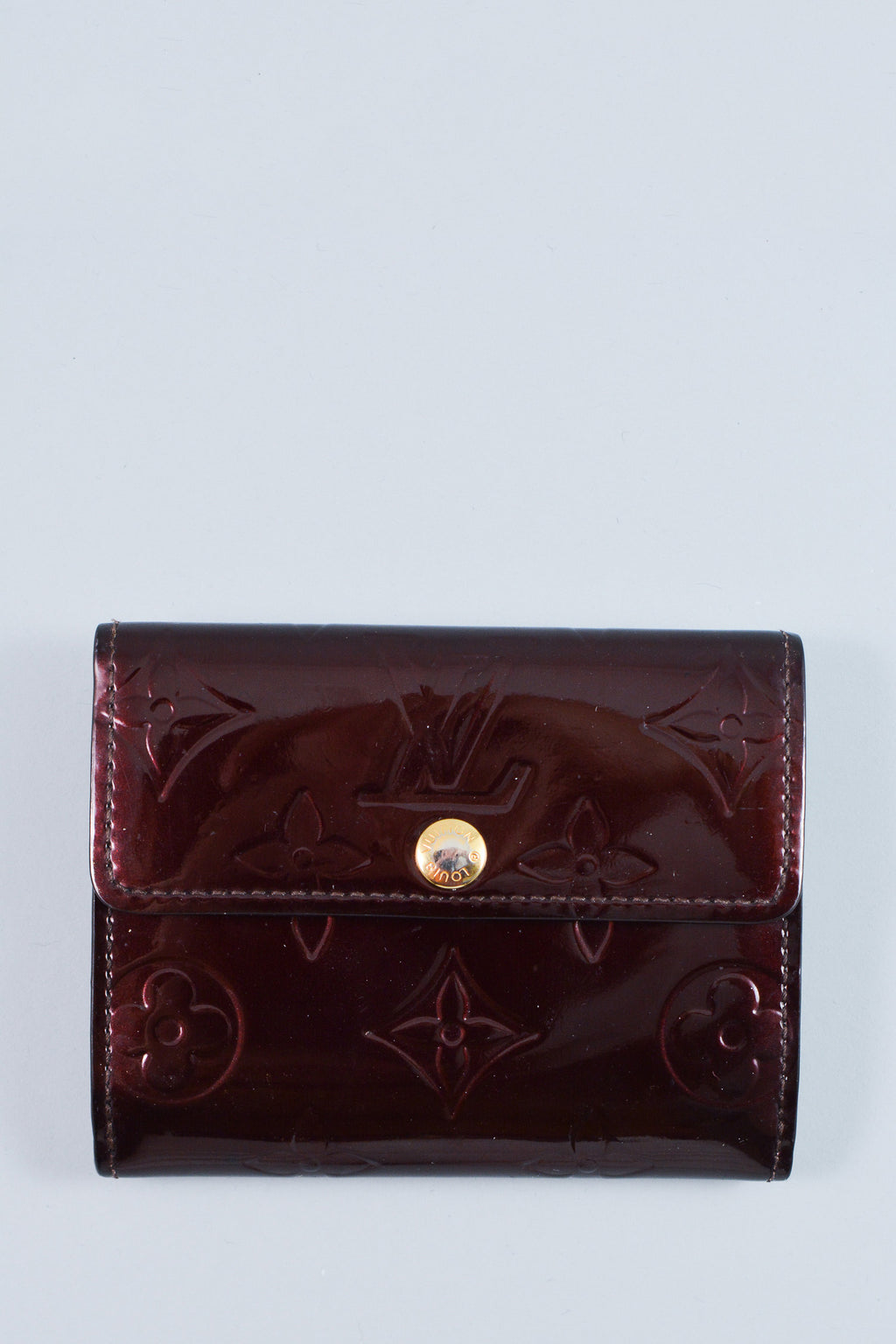 Louis Vuitton Burgundy Vernis Wallet