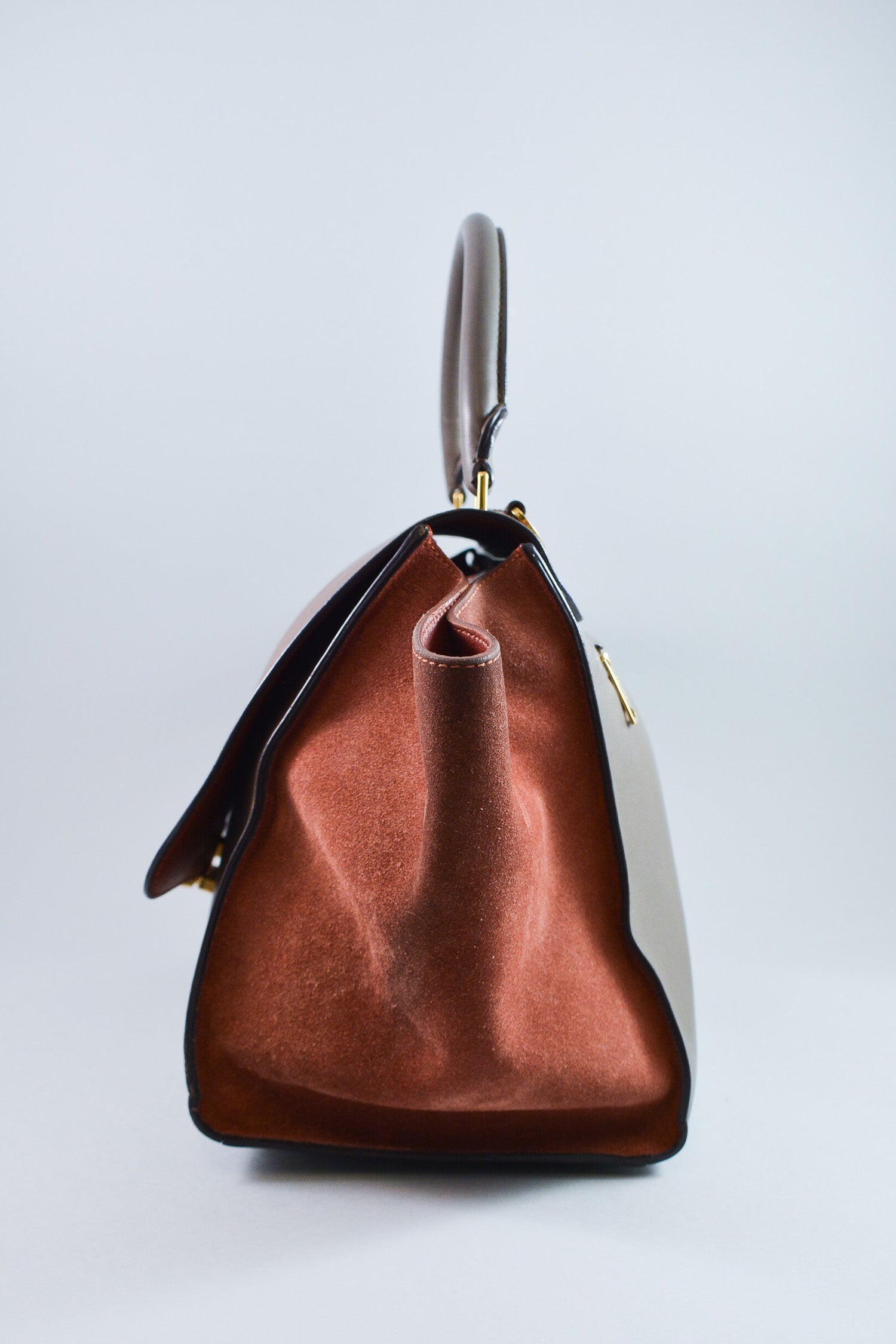 Celine Brown and Grey Trapeze