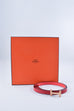 Hermes Red Reversible Quizz H 13mm Belt Kit Sz XS