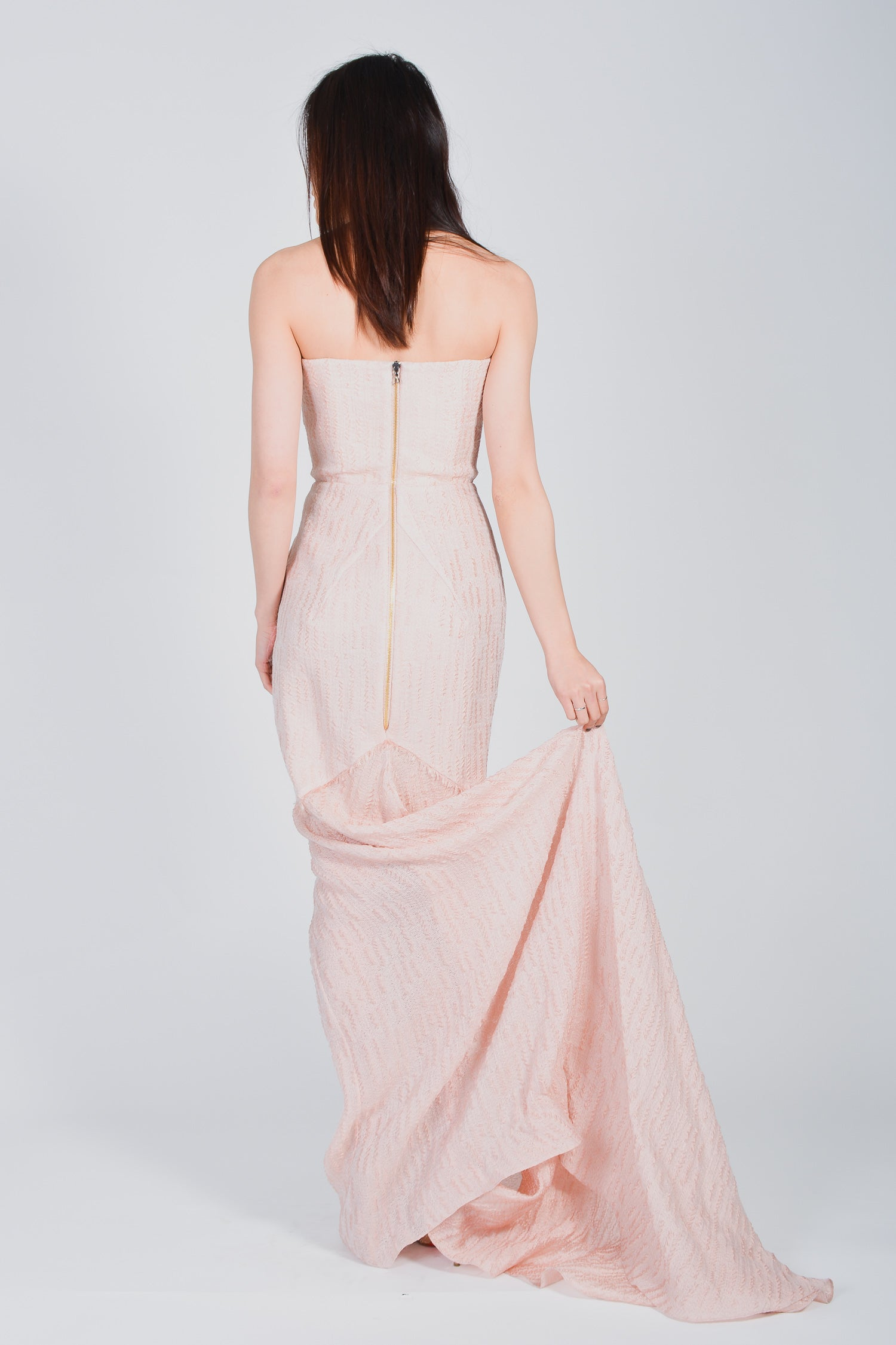 "Roland Mouret Pink ""Turret"" Gown Size 2"