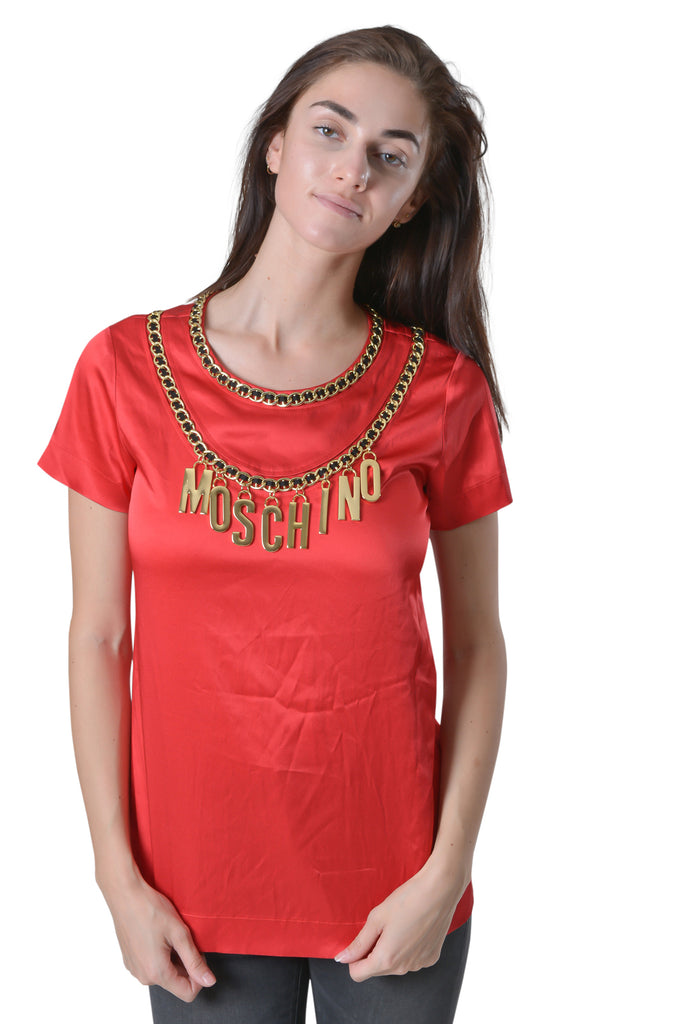Moschino Couture Red Satin Top