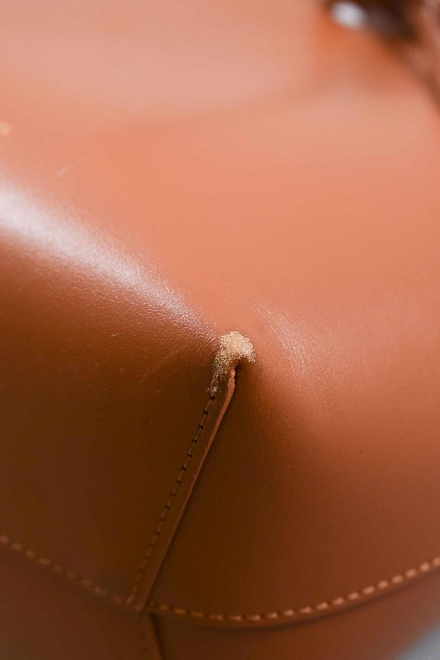 Mansur Gavriel Brown Leather Bucket Bag