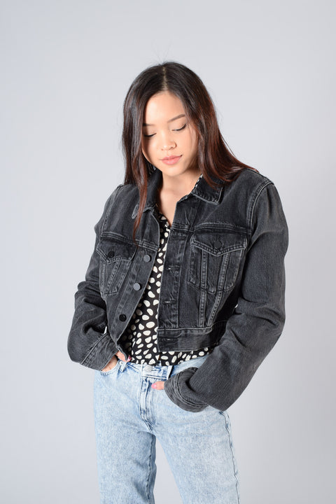 Denim x Alexander Wang Grey Denim Jacket Size M