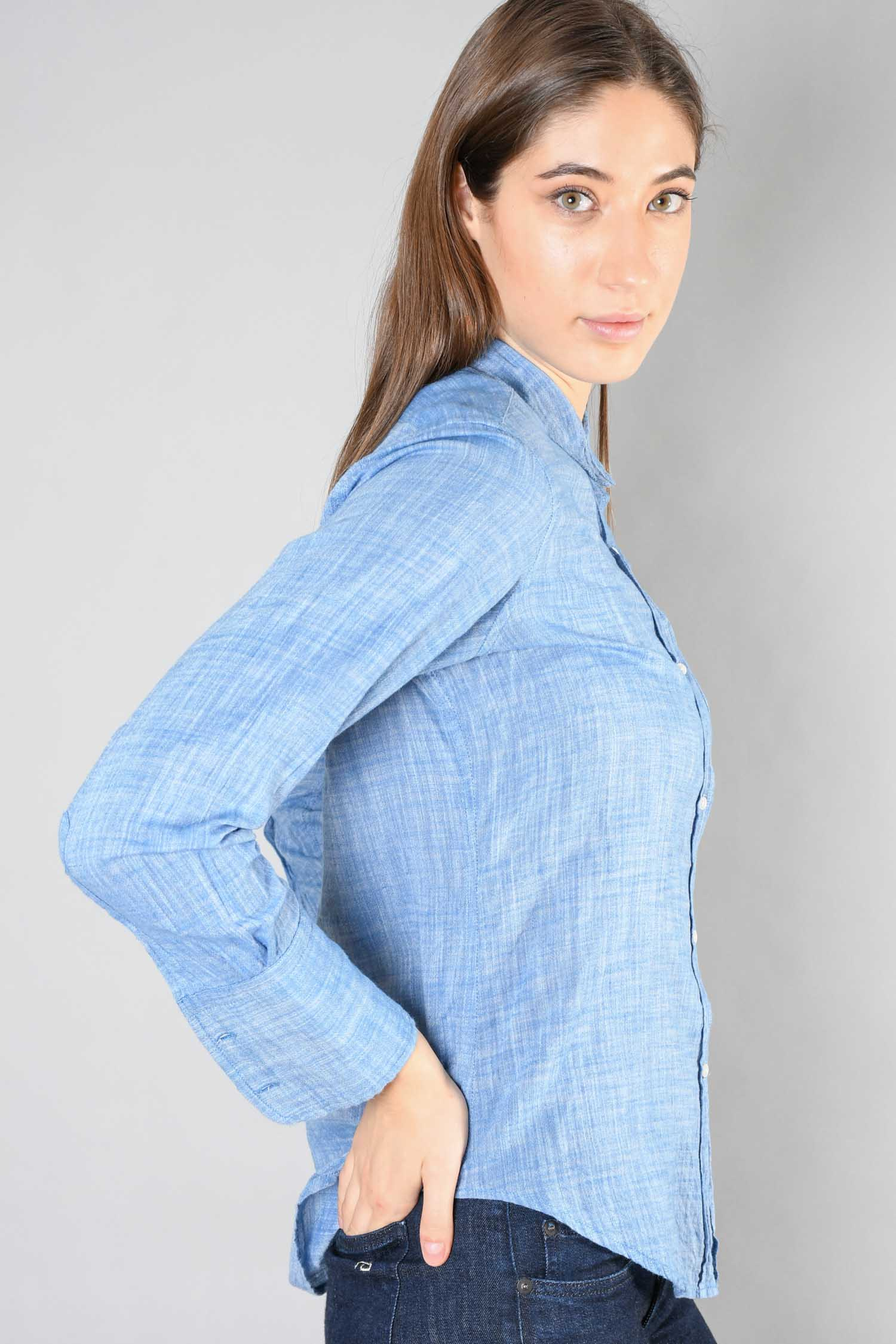 Nili Lotan Blue Linen Button-Up Size M