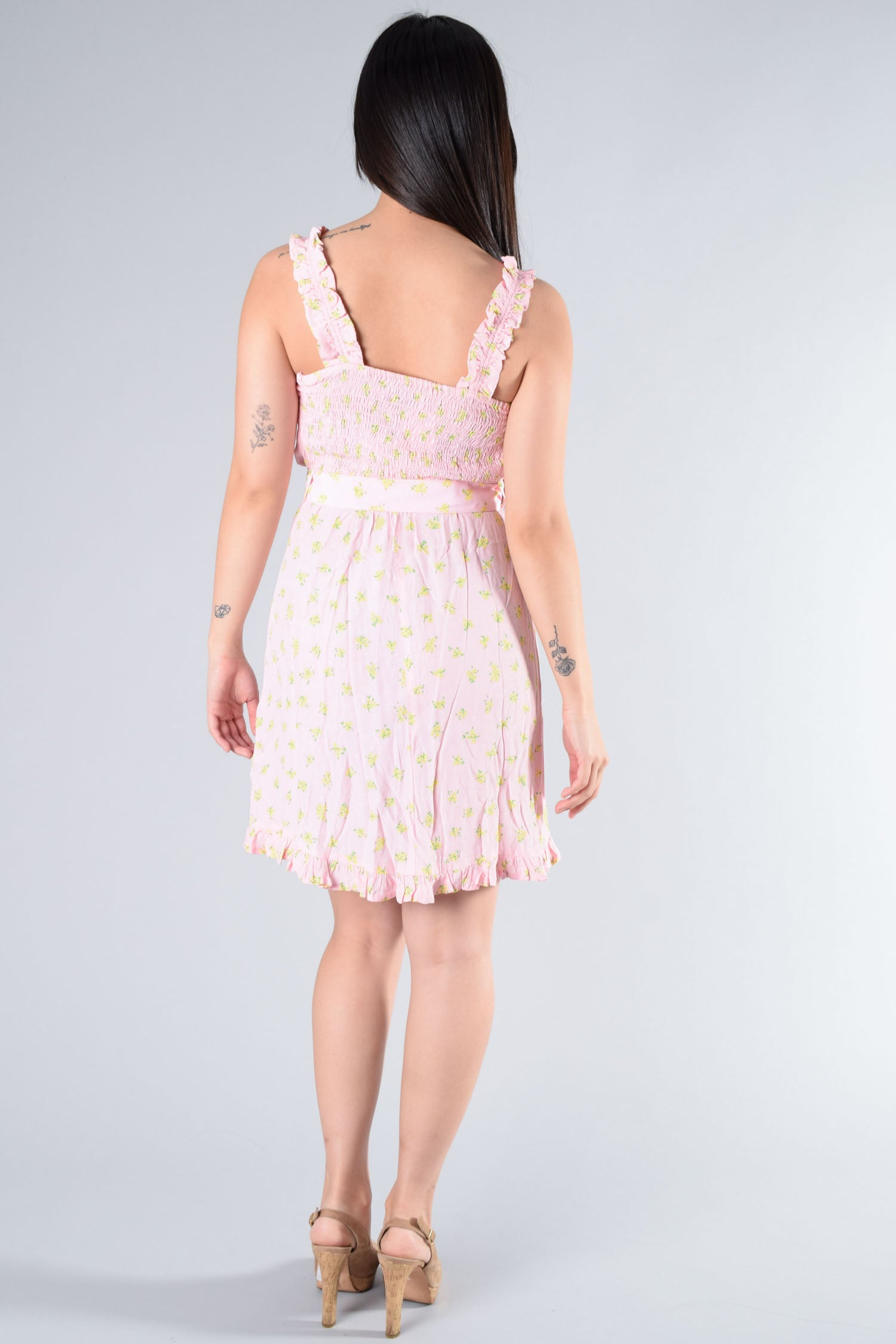 Faithfull the Brand Pink Dress w/ Belt Size XS