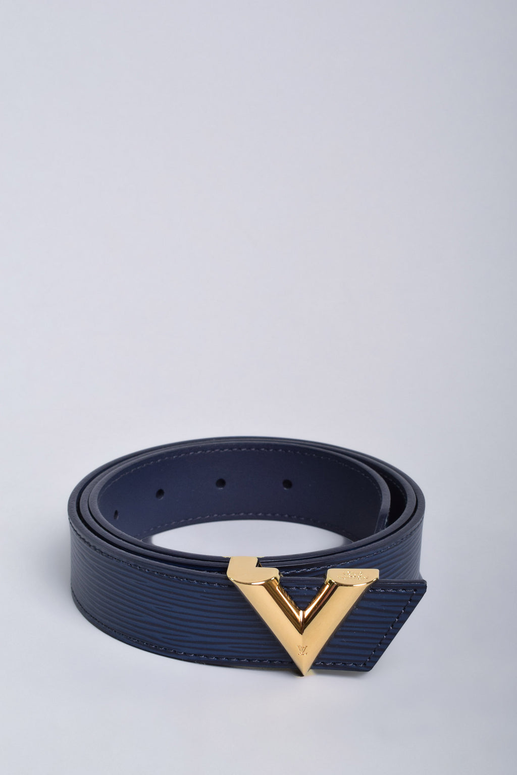 Louis Vuitton Blue Epi Essential V Belt